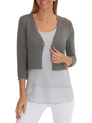 Betty Barclay Short Knitted Cardigan Titanium