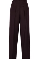 3.1 Phillip Lim Wool Gabardine Wide Leg Pants Red