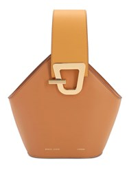 Danse Lente Mini Jhonny Smooth Leather Bag Toffee