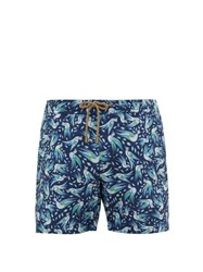 Thorsun Bird Print Titan Fit Swim Shorts Navy