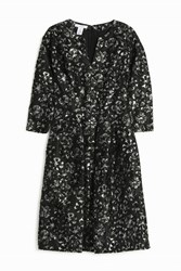 Oscar De La Renta Brocade Cocktail Dress Black