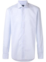 Barba Classic Shirt Men Cotton 41 Blue