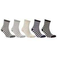 John Lewis Stripe Cotton Blend Ankle Socks Pack Of 5 Multi