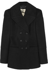 Burberry Double Breasted Wool And Cashmere Blend Peacoat