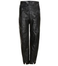 Vetements X Schott Leather Cropped Trousers Black