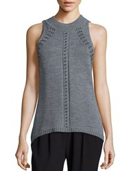 Ramy Brook Reya Sleeveless Studded Sweater Grey