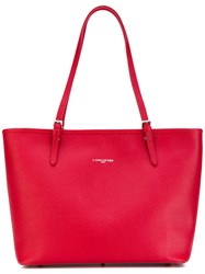 Lancaster Logo Stamp Tote Women Calf Leather One Size Red
