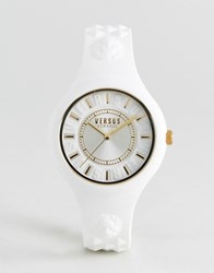 Versus By Versace Soq04 Fire Island Silicone Watch In White