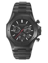 Givenchy Five Stainless Steel Chronograph Watch Black
