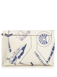 Loewe Blue Galaxy Leather Pouch