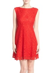 Women's French Connection Lace Fit And Flare Dress