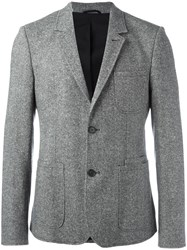 Carven Single Breasted Blazer Grey