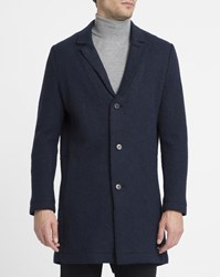 Nowadays Navy Wool Coat Blue