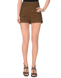French Connection Trousers Shorts Women Military Green