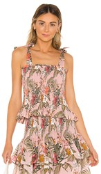 Rebecca Minkoff Dolly Top In Pink. Peach Whip Multi