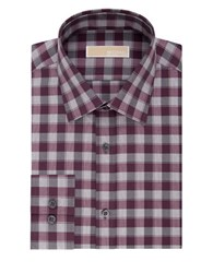 Michael Michael Kors Regular Fit Cotton Dress Shirt Bordeaux