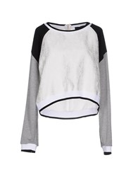 Atos Lombardini Topwear Sweatshirts Women Light Grey