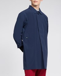 Aspesi Raincoat Baritono Light Blue