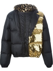 Moschino Sequined Padded Jacket Black