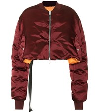 Unravel Reversible Cropped Down Jacket Red