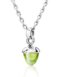 Tamara Comolli Mikado Bouquet Peridot Pendant Enhancer In White Gold