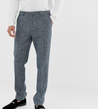 Noak Slim Fit Harris Tweed Suit Trousers In Blue