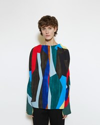 Marni Abstract Print Blouse Multicolor
