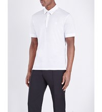 Alexander Mcqueen Skull Cotton Jersey Polo Shirt White Ivory Plum