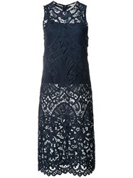 Alice Olivia Floral Lace Tunic Blue