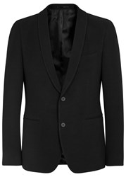 Hugo Boss Black Reaman Ribbed Stretch Jersey Blazer Black
