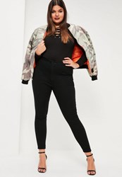 Missguided Plus Size Black High Waist Jeans