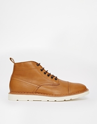 Pull And Bear Pullandbear Boots With Contrast Stitch Detail Tan