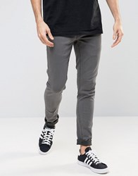 Solid Washed Black Skinny Fit Jeans With Stretch Washed Black