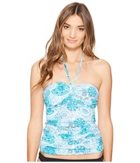 Bleu Rod Beattie Soak Up The Sun Bandeau Tankini Lagoon Women's Swimwear Blue