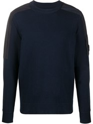 C.P. Company Cp Shoulder Patch Crew Neck Sweater 60