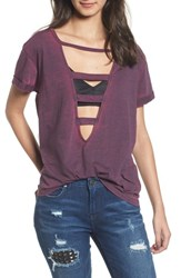 True Religion Women's Brand Jeans Fragment Tee Crushed Violet