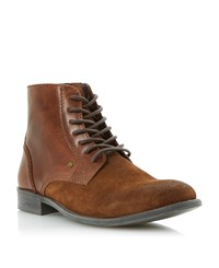 Linea Canapy Suede Lea Lace Boots Tan