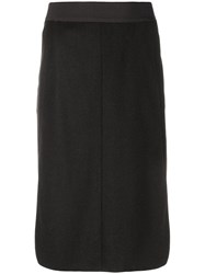 Chanel Vintage Fitted Pencil Skirt Black