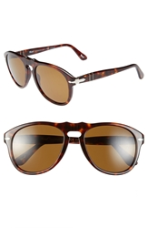 Persol 52Mm Polarized Keyhole Retro Sunglasses Brown