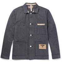 Nigel Cabourn Striped Cotton Ticking Jacket Indigo