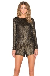 Mlv Ramona Sequin Romper Metallic Gold