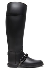 Givenchy Eva Rain Pvc Boots With Chain Detail In Black
