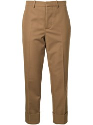 Marni Cropped Tailored Trousers Brown