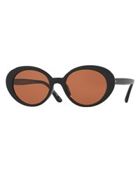 Oliver Peoples Parquet Monochromatic Oval Sunglasses Black Persimmon
