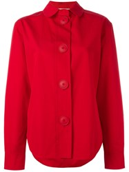 Ports 1961 Oversized Buttons Shirt Red