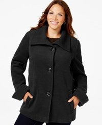 Jm Collection Woman Jm Collection Plus Size Wing Collar Jacket Only At Macy's Deep Black