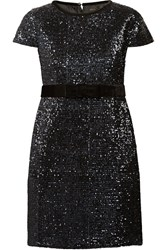 Maje Ketsia Sequined Mini Dress Blue