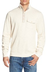 Men's Lucky Brand Mock Neck Knit Pullover Heather Oatmeal