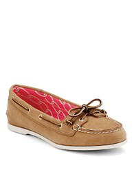 Sperry Audrey Leather Boat Shoes Brown