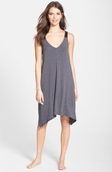 Women's Dkny 'Urban Essentials' Jersey Chemise Charcoal Heather